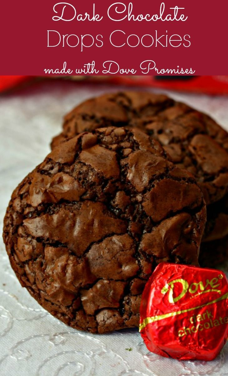 Dark Chocolate Cookies made with melted Dove Promises are perfect for the chocolate lover in your home!