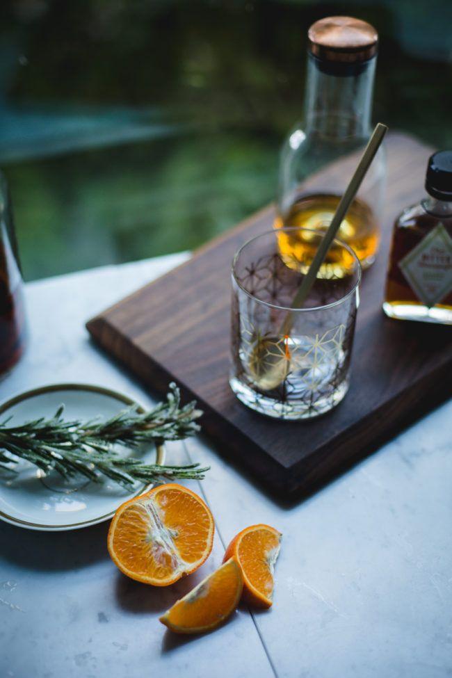 Bourbon Citrus Rosemary Sour