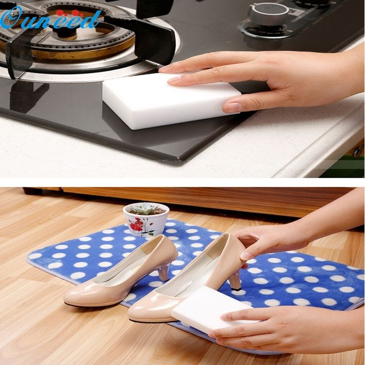 Ouneed Happy Home 5 Pcs Magic Sponge Eraser Cleaning Melamine Multi-functional Foam Cleaner