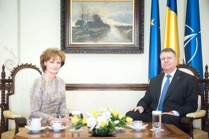 Наследная принцесса Румынии Маргарета и Президент Румынии Клаусс Йоханнис