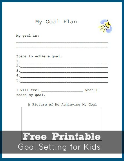 goal setting worksheet for kids teaching how to plan goals celebrateeverygoal shop cbias. Black Bedroom Furniture Sets. Home Design Ideas