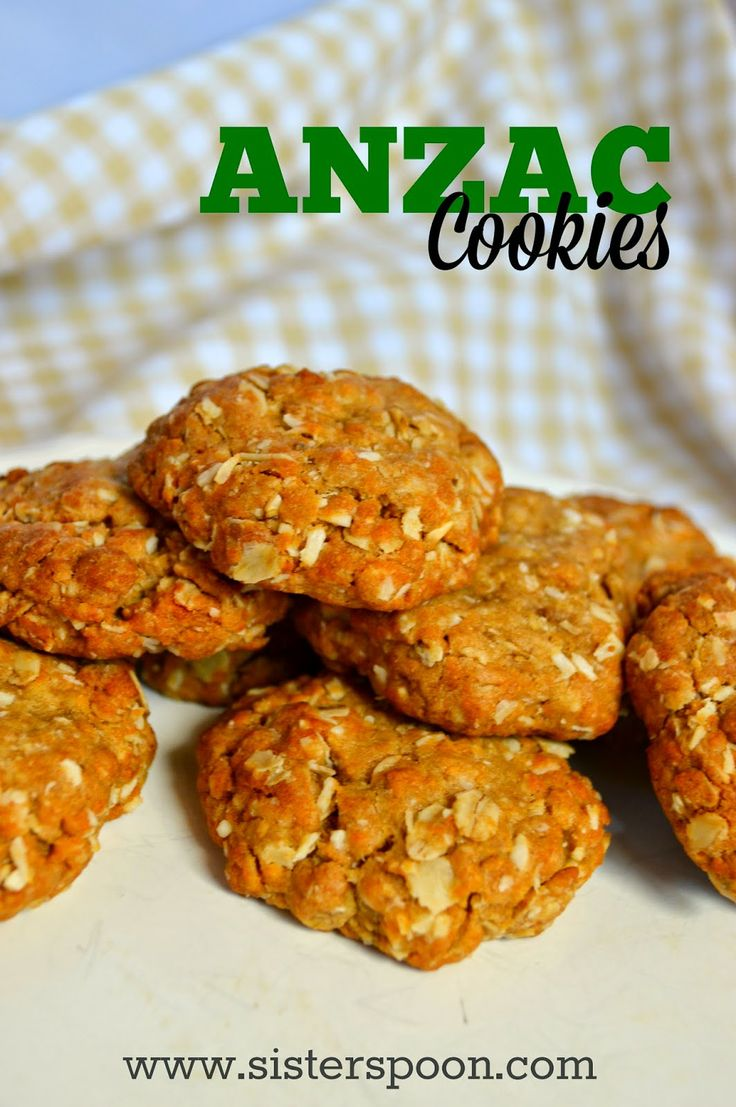 Sister Spoon - Anzac biscuits - cookies made of from coconut, oats, brown sugar.  To celebrate Anzac day or any day!
