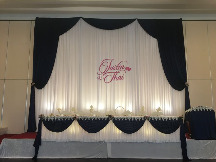 Julias and Thai's head table from The Premiere Ballroom and Convention Centre - DJ Dylan