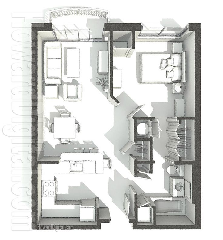 Home Rendering PCI Dorm Floor Plan 1 home series