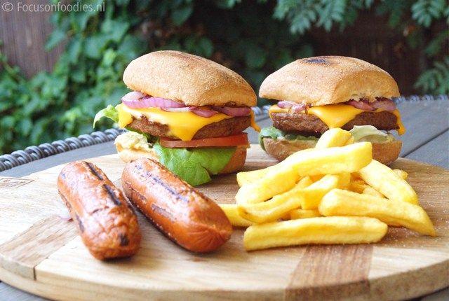 Vegetarisch hamburger recept voor de bbq