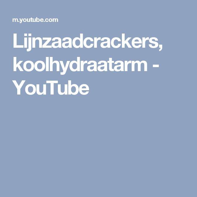 Lijnzaadcrackers, koolhydraatarm - YouTube
