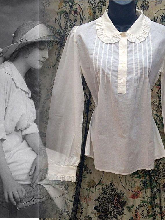 Vintage chemise de style édouardien Laura par LovelyLauraAshley