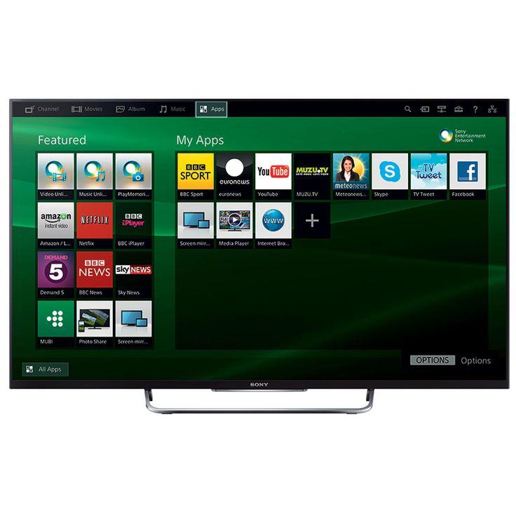 "£499 Sony KDL42W829BBU 42"" Smart 1080p Full HD LED 3D Freeview HD TV - Black"