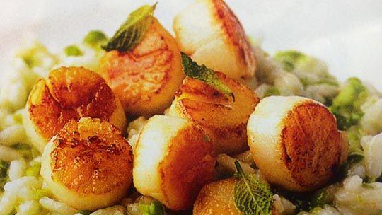 Seared scollop risotto on Deborah Hutton's dinner party menu