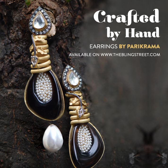 Crafted by Hand - Earrings by Parikrama!   http://www.theblingstreet.com/designers/parikrama