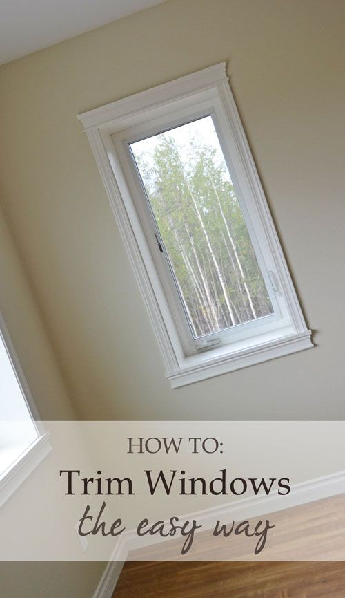 Easy window trim instructions from Ana White: