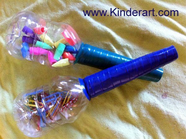 Find out how to make maracas out of bottles and toilet paper rolls.