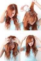 DIY dry shampoo for red hair  1/2 cornstarch 1/2 cinnamon (adjust for color) 2-5 drops essential oil (I'm going to try vanilla)
