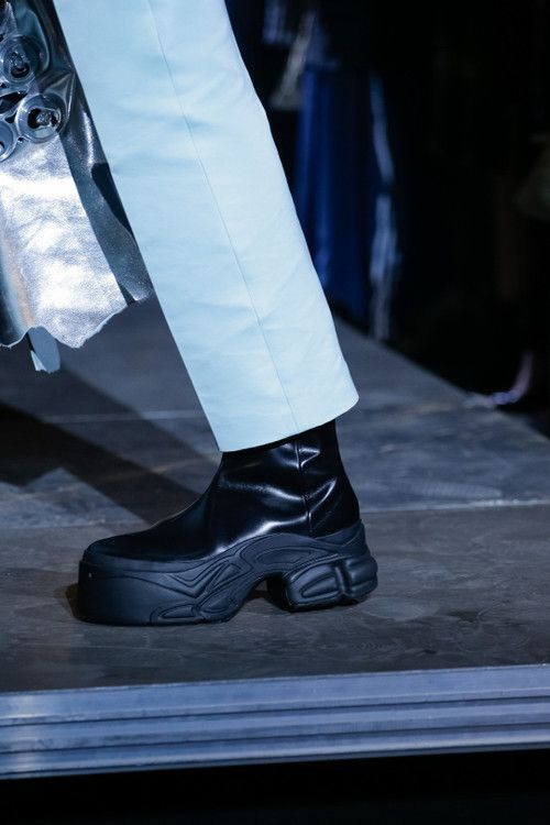 0cc12c15257e9 adidas by Raf Simons Spring Summer 2019 Footwear sneakers leather platform  boot Ozweego Detroit Runner paris fashion week runway