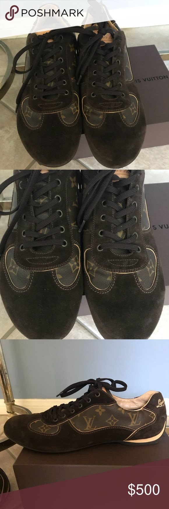 Size 10 Louis Vuitton mens Sneakers. Brand new Size 10 Louis Vuitton mens Sneakers, BRAND NEW in their bags and box! Great deal!! Louis Vuitton Shoes Sneakers