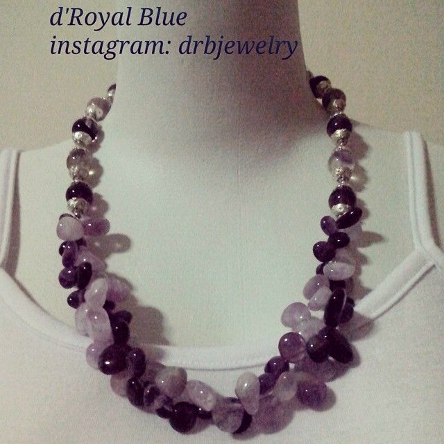 Just a quick photo shoot. #purple #amethyst & #fluorite  High quality photo shoot will be posted later #kalung #necklace No.273
