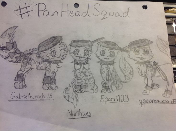 These jammers are part of the #PanHeadSquad Gabriellarocks15,Northwes,Eparri123 and youareawesome72