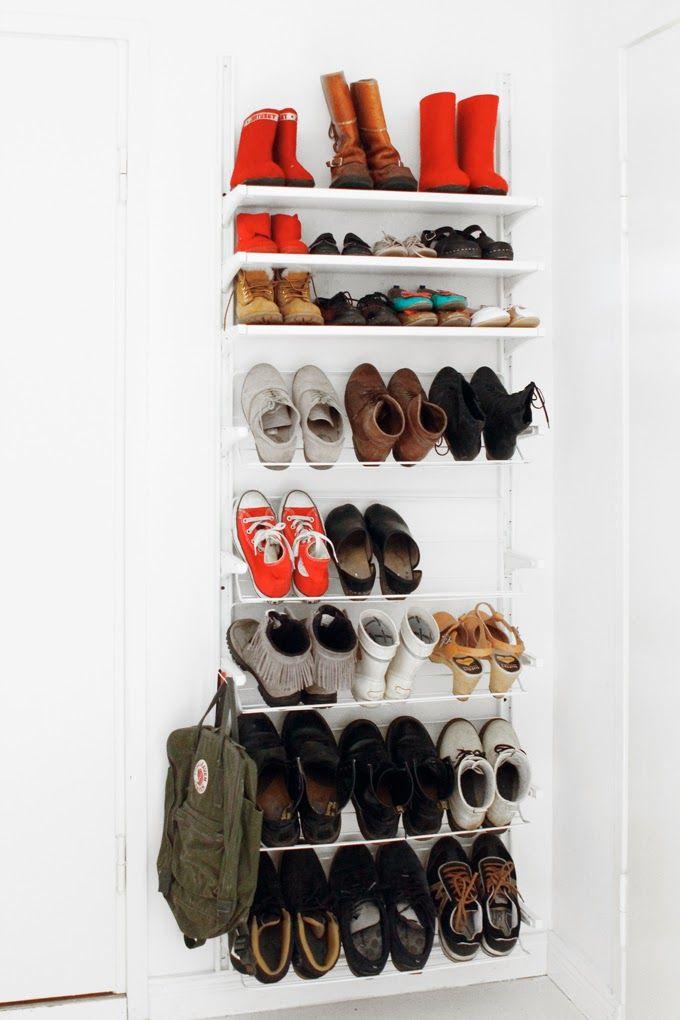 Ikea Algot säilytysjärjestelmällä kengät riviin