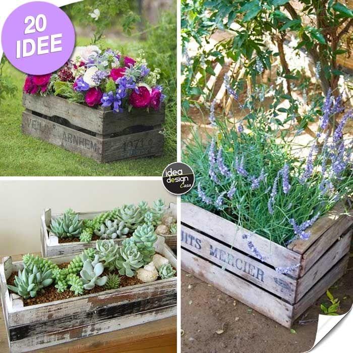 Una piccola fioriera in una cassetta di legno! 20 idee a cui ispirarsi...