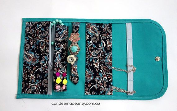Pretty Paisley Portable Jewellery Holder!