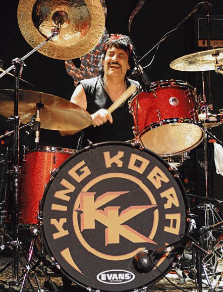 Carmine Appice, drummer for Vanilla Fudge, Rod Stewart & King Kobra. Photo: Jo Anna Jackson/stardogphotos