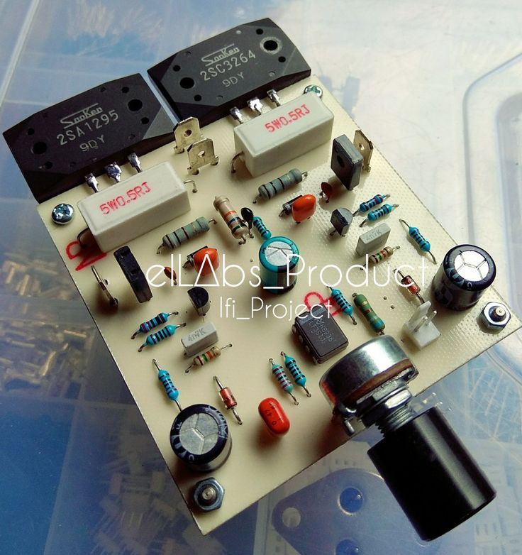 100W Power Amplifier by LF351 +  Sanken Transistor [ Ifi_Project Pa03.2 ] Good Quality ...