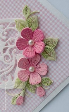Quilling flowers with perfect colour combination