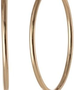 Anne-Klein-Classics-Gold-Tone-Thin-Hoop-Earrings-0