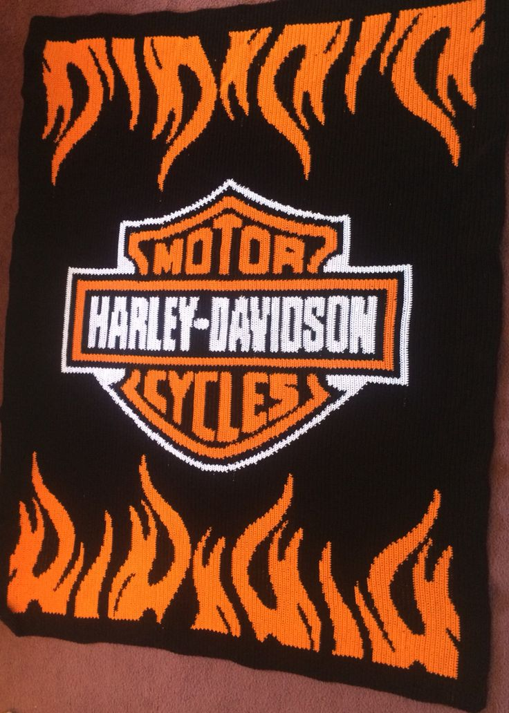 16 Best Harley Davidson Crocheted Blanket Images On