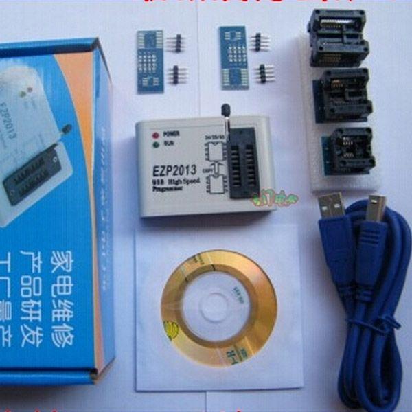 EZP2013 USB Programmer SPI 24 25 93 EEPROM Flash Bios Chip + Software + Socket #Affiliate