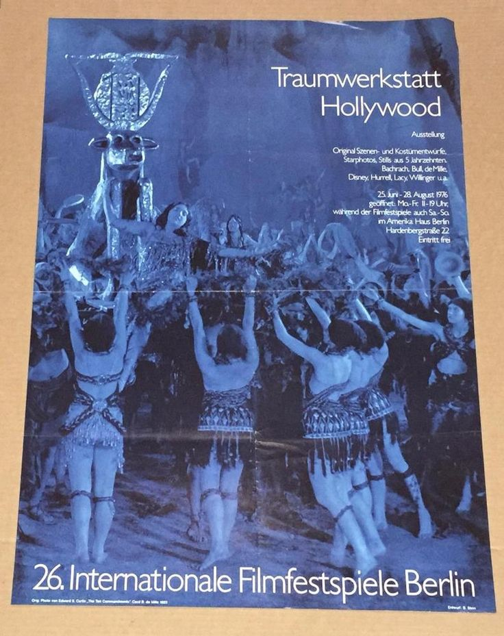 Traumwerkstatt Hollywood Poster 1976 International Film Festival Berlin Germany