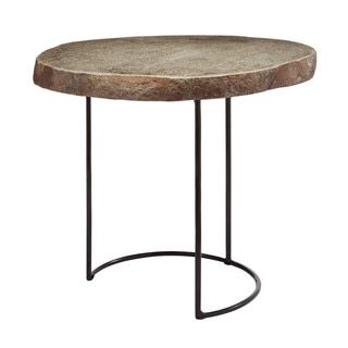 LS Dimond Home Short Stone Slab and Wire Frame Table | Overstock.com Shopping - The Best Deals on Coffee, Sofa & End Tables