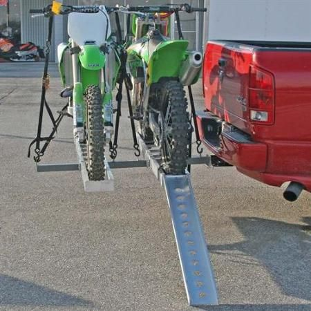 "Double Motocross 600 lb Capacity Dirt Bike Carrier Rack for 2"" Receivers - Walmart.com"