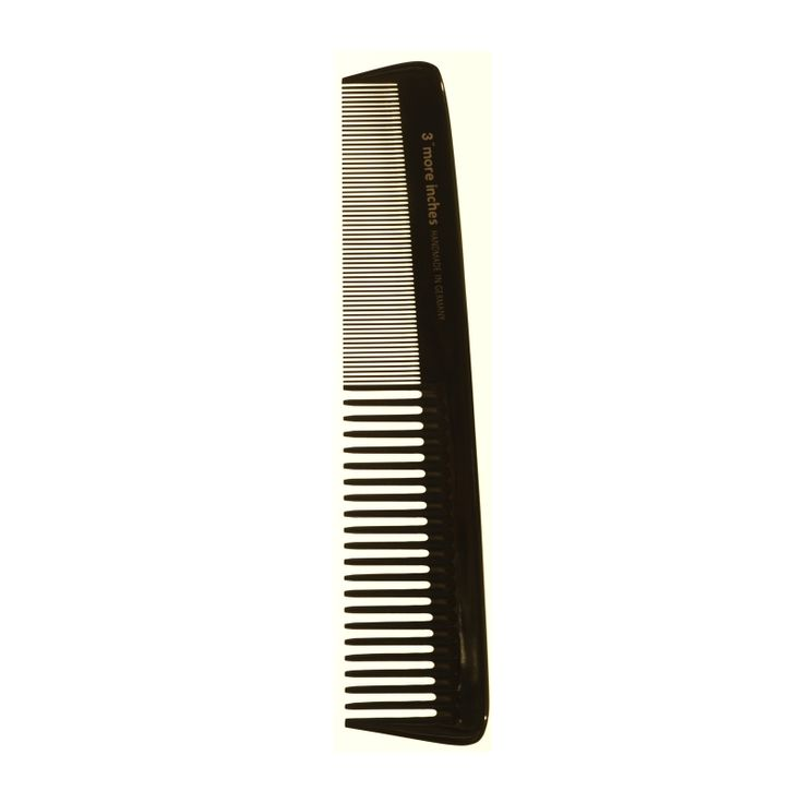 This vulcanised rubber comb is handmade by artisans through more than 30 production stages. Saw cut from one piece and then hand polished to eliminate imperfections, 3''' More Inches by...