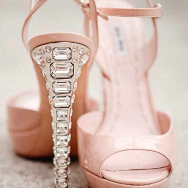 Crystal heels, Wedding shoes, Heels