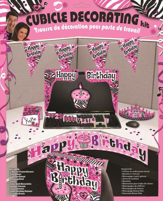 50th Birthday Office Ideas: Amazon.com: Happy Birthday Cubicle Decorating Kit