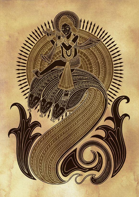 brahmaanda The 10 avatars of Vishnu (Dashavatar) depicted by British illustrator Poonam Mistry