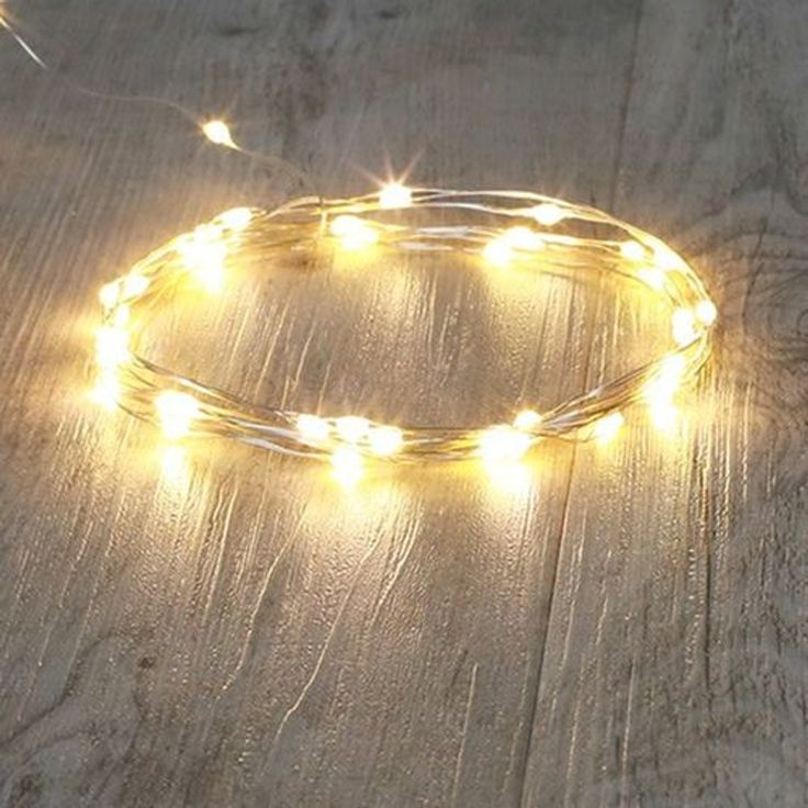 Guirlande Lumineuse 40 Micro Led Argent Blanc Froid – Taille : Taille Unique