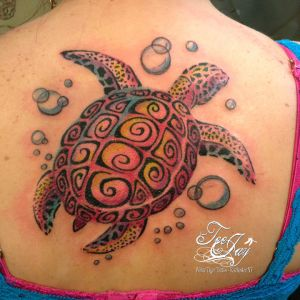 turtle tattoo bright colors