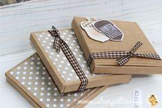 stampin up verpackung merci schokolade verpacken stempeltier papierschneider dekoratives etikett Kraft Eichel Wintervorrat acorny thanks