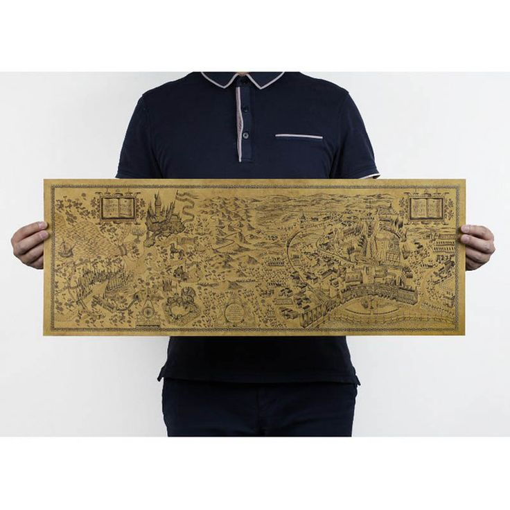 Harry Potter Magic World Map - free shipping worldwide