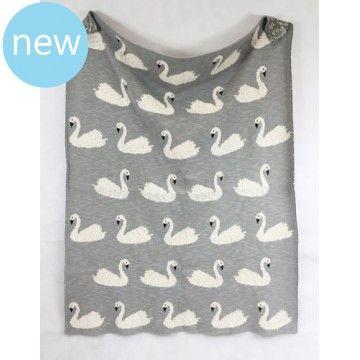 Swan Baby Blanket