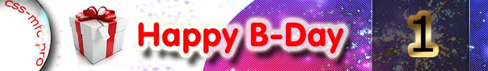 1 year Happy B-Day CSS-MFC-PRO