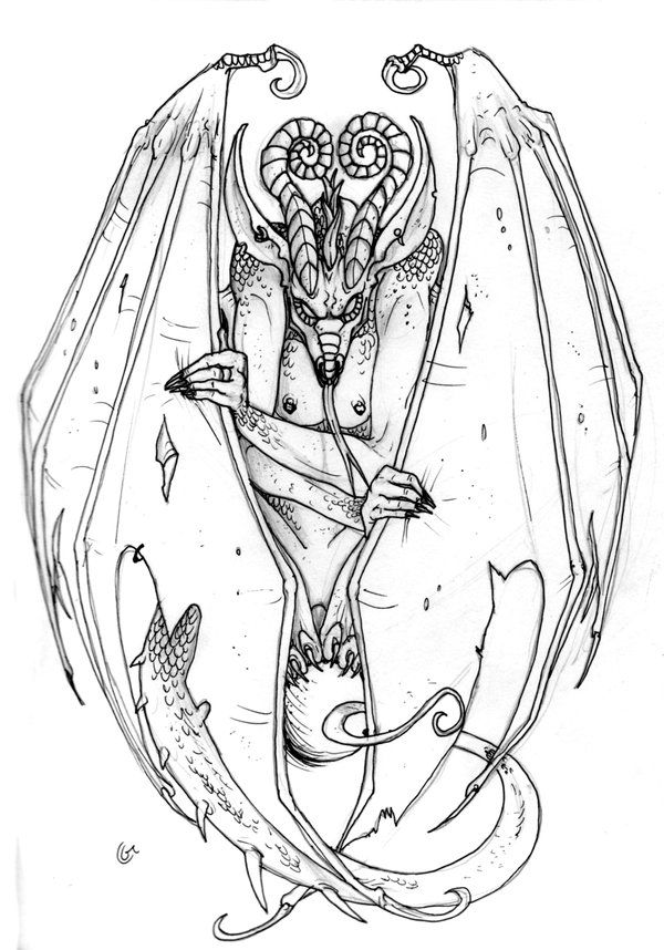gargoyles dragons in pencil - Google Search