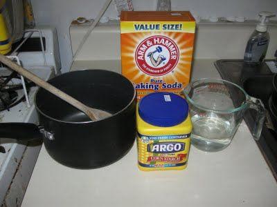 Baking Soda Clay 1 Cup Baking Soda 189 Cup Cornstarch 190