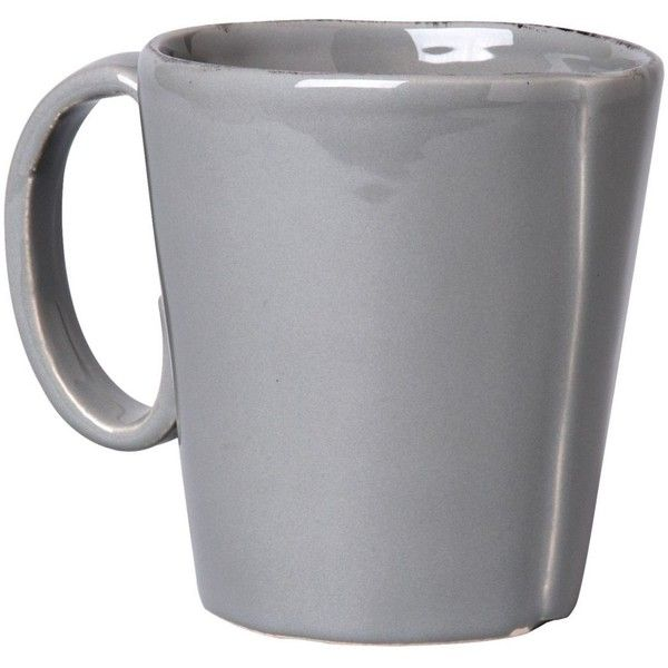 VIETRI Lastra Grey Mug ($39) ❤ liked on Polyvore featuring home, kitchen & dining, fillers, food, drinks, food and drink, grey, detail, embellishment and vietri