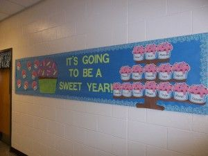 Its-Going-To-Be-A-Sweet-Year-Cupcake-Bulletin-Board-Idea