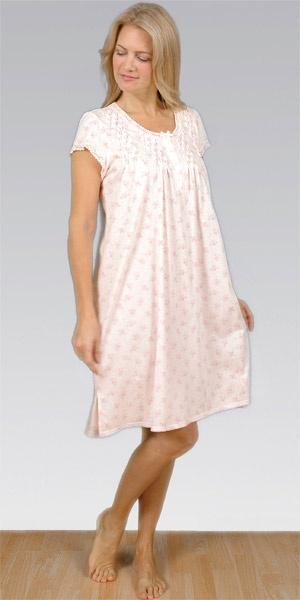 Smocked Cotton-Rich Waltz Nightgown By Miss Elaine ...