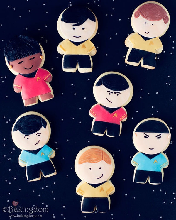 To boldly go where no cookie has gone before!: Fun Recipes, Sugar Cookies, Tos Cookies, Stars Trek, Trek Tos, Husband Birthday, Photo, Trek Cookies, Star Trek
