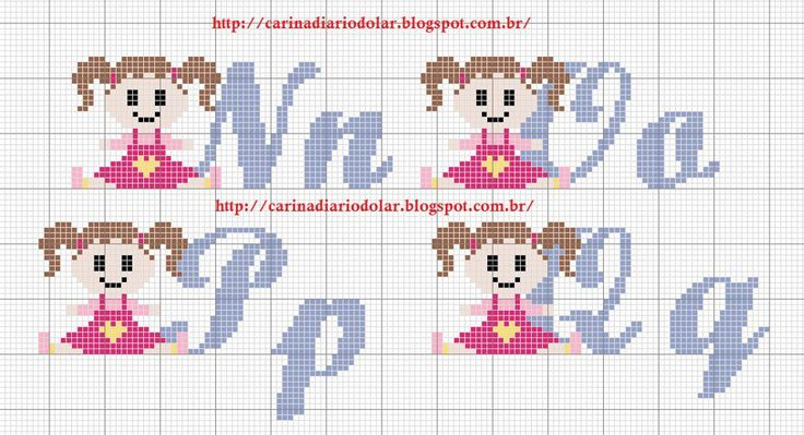 Monogramas feitos pelas fadas Melina Lupa e Edilse Bordados                                                                              ...